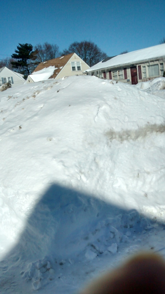 A 15 foot wall of snow!